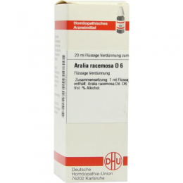 ARALIA RACEMOSA D 6 Dilution 20 ml