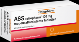 ASS-ratiopharm 100 mg magensaftres.Tabletten 50 St