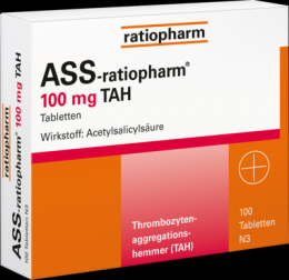 ASS-ratiopharm 100 mg TAH Tabletten 100 St