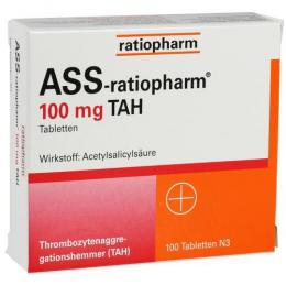 ASS-ratiopharm 100 mg TAH Tabletten 100 St.