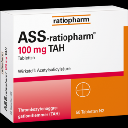 ASS-ratiopharm 100 mg TAH Tabletten 50 St