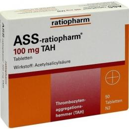 ASS-ratiopharm 100 mg TAH Tabletten 50 St.