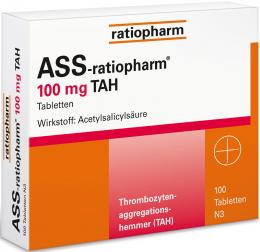 ASS-ratiopharm 100mg TAH 100 St Tabletten