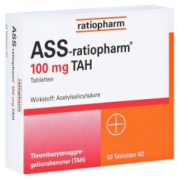 ASS-ratiopharm 100mg TAH Tabletten 50 Stück