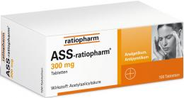 ASS-ratiopharm 300 mg 100 St Tabletten