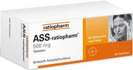 ASS-ratiopharm 500 mg 100 St Tabletten