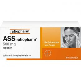 ASS-ratiopharm 500 mg Tabletten 100 St.