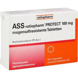 ASS-ratiopharm PROTECT 100 mg magensaftr.Tabletten 100 St.