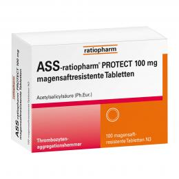 ASS-ratiopharm PROTECT 100 mg magensaftresistente Tabletten