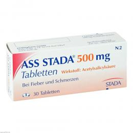 ASS STADA 500 mg Tabletten 30 St Tabletten