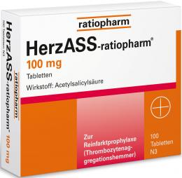 HerzASS-ratiopharm 100 mg 100 St Tabletten