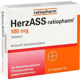 HERZASS-ratiopharm 100 mg Tabletten 100 St.