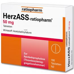 HerzASS-ratiopharm 50 mg 100 St Tabletten