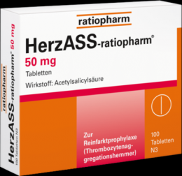 HERZASS-ratiopharm 50 mg Tabletten 100 St