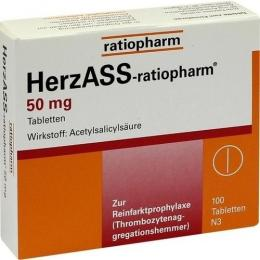 HERZASS-ratiopharm 50 mg Tabletten 100 St.