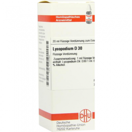 LYCOPODIUM D 30 Dilution 20 ml