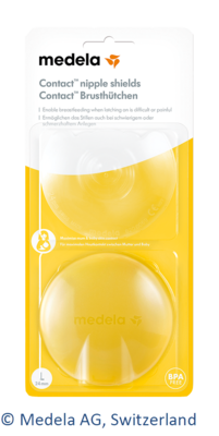 MEDELA Brusthütchen Contact L m.Aufbw.Box 2 St
