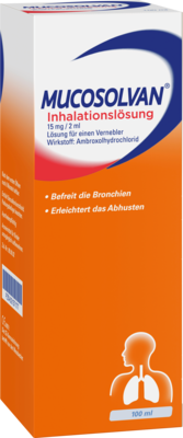 MUCOSOLVAN Inhalationslösung 15 mg Lsg.f.Vernebler 100 ml