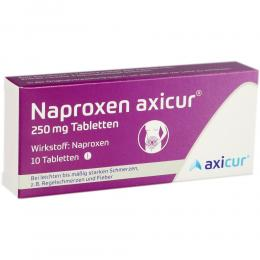 NAPROXEN axicur 250 mg Tabletten 10 St Tabletten