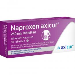 NAPROXEN axicur 250 mg Tabletten 30 St Tabletten